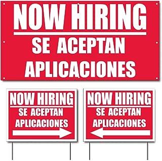 Now Hiring Se Aceptan Aplicaciones 2'x4' (1) Banner & 18