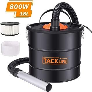 TACKLIFE Aspirador de Cenizas, Colector de Polvo, 18 L de Gran Capacidad, Apto para Horno, Chimenea, Parrilla -PVC03A