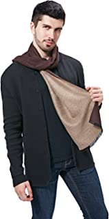 FULLRON Men Cashmere Scarf Silky Warm - Cotton Scarves for Winter