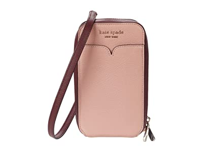 Kate Spade New York Zeezee North/South Phone Crossbody for iPhone(r) (Faded Anemone) Cell Phone Case