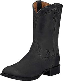 حذاء برقبة غربي من Ariat Heritage Roper - جلد للرجال، حذاء غربي ذو مقدمة دائرية