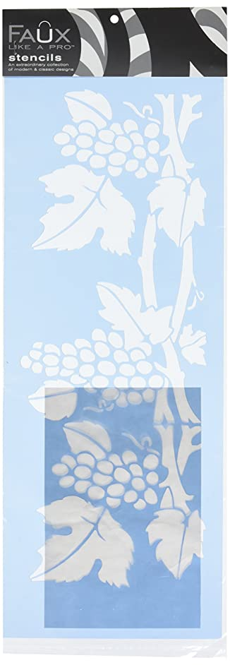 Faux Like a Pro Tuscan Grapes Wall Stencil, 8 by 16-Inch