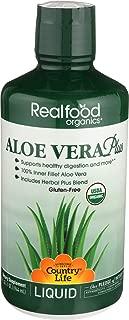 Country Life - Realfood Organics Aloe Vera Plus, Herbal Blend - 32 Ounce