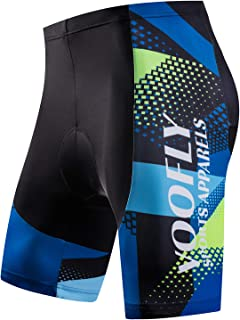 voofly Men's Padded Cycling Underwear Gel Bicycle Underpant Lightweight Bike Shorts