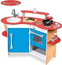 Melissa & Doug Cook's Corner Wooden Pretend Play Toy Kitchen