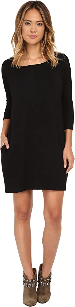 Gigi Luxe French Terry Pocketed Dress