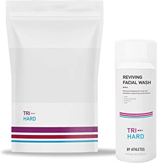 Trihard SWIM & SPORT Facial Wash : Removing Chlorine Odors | Hydrating After Swim & Sweat Dry Skin | Relieving Post Chlorine & Sun Exposure Itchy Skin