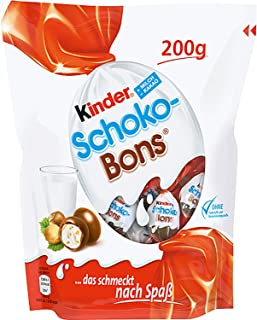 kinder schoko bons ingredients