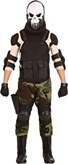 Boy's Skull Military Costume Skull Soldier Costume for Kids