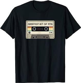 Greatest Hit Of 1978 Birthday Retro Cassette Tape Graphic T-Shirt