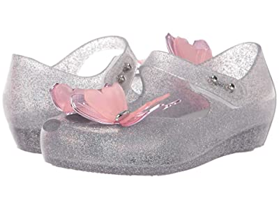 Mini Melissa Ultragirl Fly III BB (Toddler/Little Kid) (Silver Glitter) Girl
