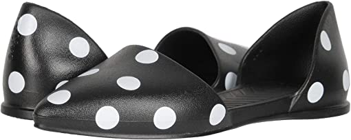 Jiffy Black/Shell White Polka Dots