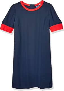 Tommy Hilfiger womens Colorblock Dress Magnetic Closure at Shoulders Casual Dress