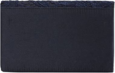 U-Story Damen-Handtasche mit floralem Spitzensatin, Clutch für Hochzeit, Brautschmuck