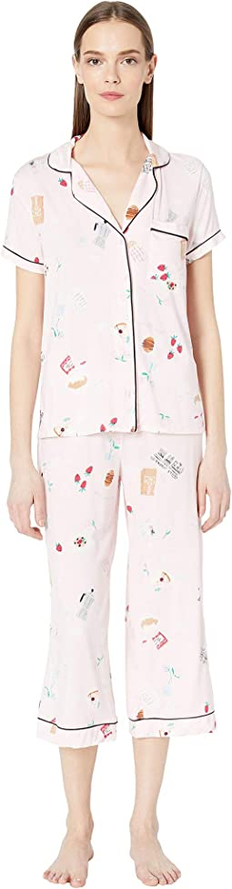 Jersey Cropped Pajama Set