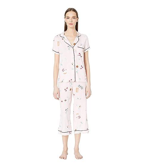 Kate Spade New York Jersey Cropped Pajama Set