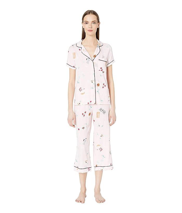 Kate Spade New York Jersey Cropped Pajama Set (Parisian Breakfast) Women