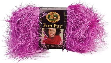 Lion Brand Yarn 320-192 Fun Fur, Purpletini
