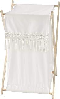Sweet Jojo Designs Ivory Neutral Boho Bohemian Baby Kid Clothes Laundry Hamper - Solid Color Beige Cream Off White Farmhou...