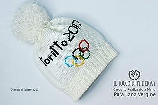 Cappello Olimpiadi Toritto 2017 in Pura Lana Handmade Made in Italy - Realizzata a mano - Regali uomo - Artigianale - idee...