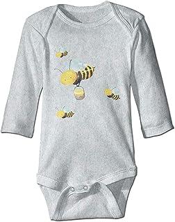 SADODER Bees Infant 100% Organic Cotton Climbing Long Sleeve Onesie