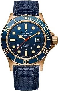 Glycine - Combat Sub 42 GL0174 - Reloj de pulsera para hombre (bronce, fecha, analógico, automático)