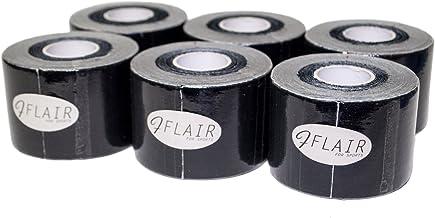 【6巻セット】FLAIR カラーキネシオロジーテープ 50mm×5M 伸縮・撥水・足・ひざ・腰用 Color Kinesiology Tape