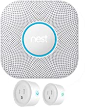 Nest S3003LWES Protect Wired Smoke and Carbon Monoxide Alarm White 2nd Generation Bundle with Deco Gear 2 Pack WiFi Smart ...