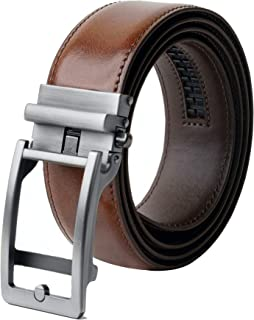 """ALLEN & MATE Leather Belts for Men Genuine Leather Belt with Automatic Buckle (Suitable for Waist Size: 28""""-40"""")"""
