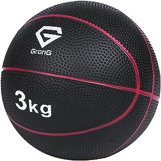 GronG(グロング) メディシンボール 3kg 5kg トレーニングマニュアル付き 非バウンドタイプ