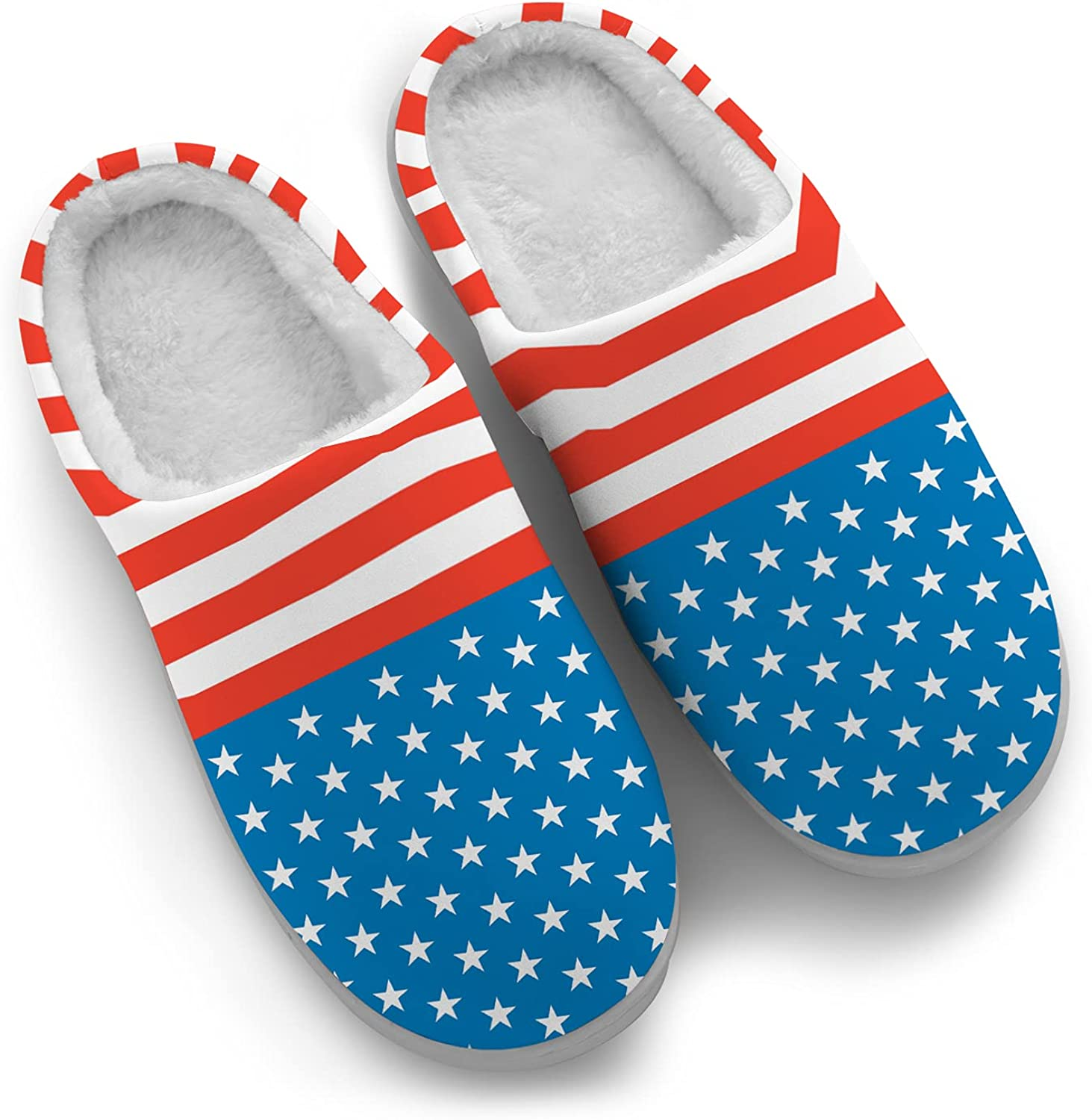American Flag Slippers for Women and We OFFer at cheap prices Stars Men USA Max 85% OFF Stripes