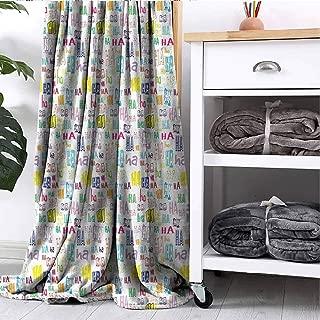 GAJIOE DIY Printing Blanket Fun Dorm Bed Nursery Crate Traveling Haha Quote Positivity Happiness W40 xL60