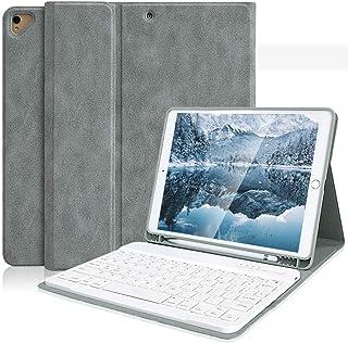 iPad 10.2 キーボードケース 第7世代 /iPad 8 第8世代 キーボードケース (2020秋発売の最新版) ペンシルホルダー付き iPad 10.2/iPad Air3/Pro 10.5と一緒に兼用 2019/2020モデル ワイヤ...