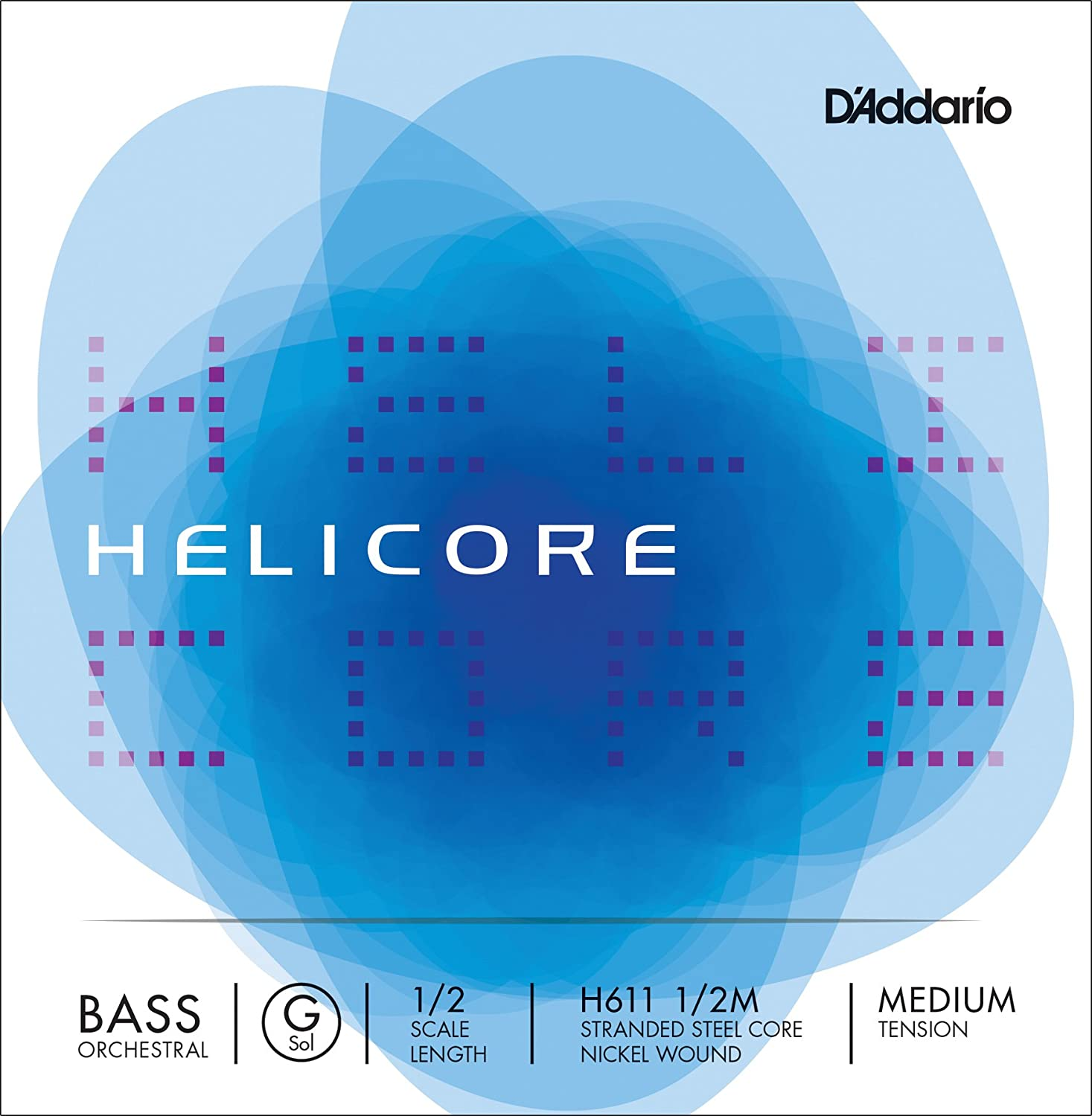 Medium Tension DAddario Helicore Orchestral Bass Single G String 1//10 Scale