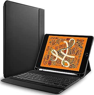 RLTech Teclado Funda para iPad Mini 2019 - (QWERTY English) Ultra Slim Teclado Wireless Keyboard Case con Magnético One-Piece Inalámbrico Bluetooth para iPad Mini 5 Gen 2019 / iPad Mini 4, Negro