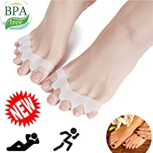 Toe Separators, Toe Stretchers, Toe Separators Stretchers, Gel Rubber Silicone Toe Spacers, Hammer Straighten Correct Bunion Pain Toe, Shoe Stretcher House Shoes for Women and Men