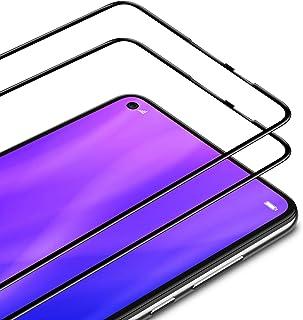 TAMOWA skärmskydd för Huawei P40 Lite, 2-pack, helskärm premium härdat glas film 9H hårdhet skottsäker skärmskydd, anti-re...