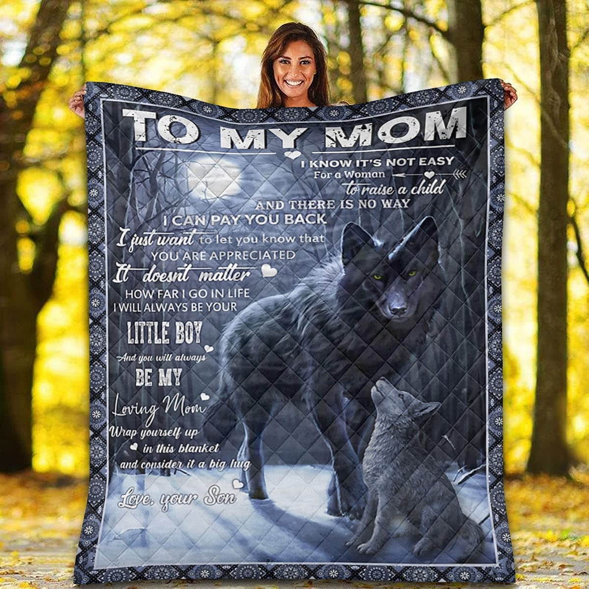 Las Vegas Mall Wolf Forest On The Moon Quilt - You Mom I Can to My Cheap mail order shopping Pay