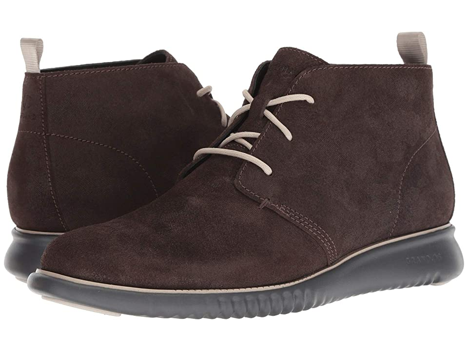6d7b2a31540 Cole Haan 2.Zerogrand Chukka (Black Walnut Embossed Suede Dove Magnet)  Men s Lace-up Boots