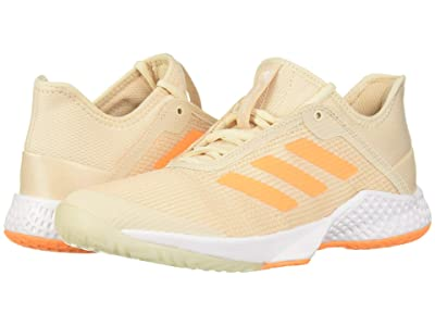adidas Adizero Club (Linen/Flash Orange/Footwear White) Women