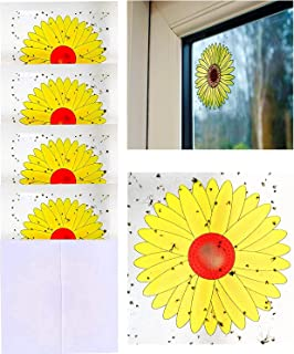 zhifan Fly Traps, Sunflower-style Fly Stickers, Insect Flies Wasp Pest Killer, 16 Traps Per Pack