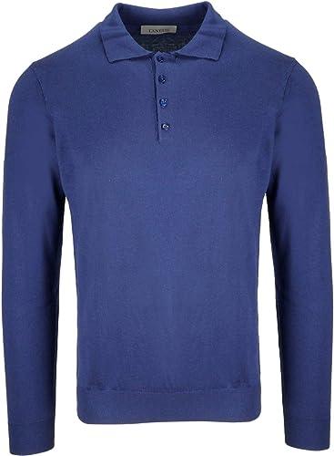 LANEUS Homme LANUS2010bleu Bleu Soie Polo