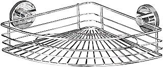 WENKO Vacuum-Loc® Eckablage Bari – Befestigen ohne bohren, Stahl, 35 x 9 x 22.5 cm, Chrom