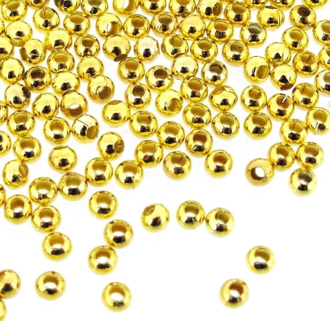 4mm Lot of 20 beads. Gold Infill beads in alloys