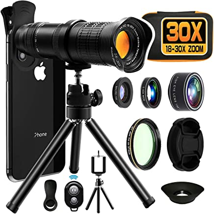 Moikin 18X-30X Cell Phone Camera Lens, 4 in 1 Photography...
