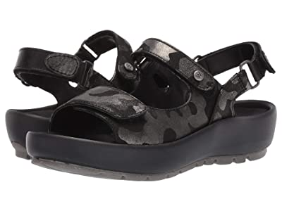 Wolky Rio (Black Camouflage Nubuck) Women