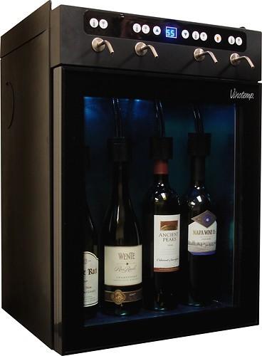 Vinotemp 4-Bottle Wine Dispenser Black VT-WINEDISP4 - Best Buy