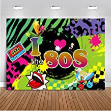 Mehofoto I Love 80s Backdrop Back to 80s Hip Pop Photography Background 7x5ft Vinyl Radio Graffiti Music 80th Themed Party Banner Decoration Backdrops