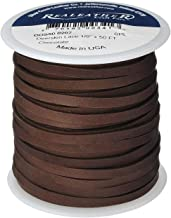 Realeather Crafts Deerskin Lace, Chocolate