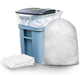 """Plasticplace W65LDC2 65 Gallon Trash Bags │ 2.7 Mil │ Clear Heavy Duty Garbage Can Liners │ 50"""" x 48"""" (25 Count)"""